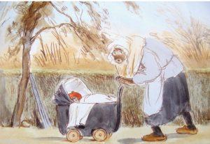 Brammert en Tissie kinderwagen